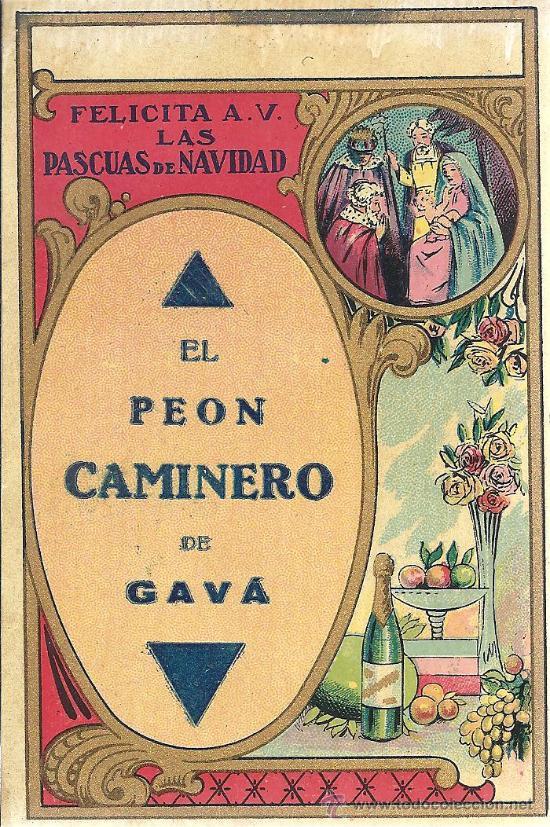PS3360 FELICITACIÓN NAVIDEÑA DE GREMIOS 'EL PEÓN CAMINERO DE GAVÁ'. EN CASTELLANO. AÑOS 30 (Postales - Postales Temáticas - Navidad)
