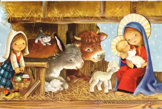 Po2762 dibujo de constanza pesebre del nac comprar - Dibujos postales navidad ninos ...