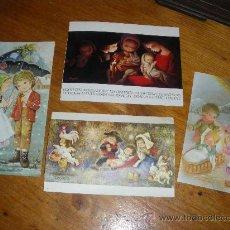 Postales: 4 FELICITACIONES DE NAVIDAD, POSTAL NAVIDEÑA. . Lote 28766851