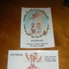 Postales: 2 FELICITACIONES DE NAVIDAD, POSTAL NAVIDEÑA. . Lote 28809912
