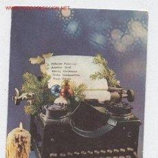 Postales: ANTIGUA FELICITACION DE NAVIDAD CON FOTO DE ANTIGUA MAQUINA DE ESCRIBIR. Lote 29197923