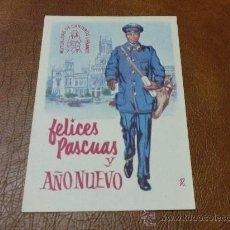 Postales: TARJETA-POSTAL DE NAVIDAD -ANTIGUA- FELICITANDO LAS PASCUAS EL CARTERO. Lote 29299729