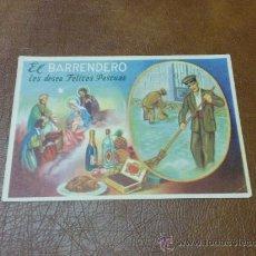 Postales: TARJETA-POSTAL DE NAVIDAD -ANTIGUA- FELICITANDO LAS PASCUAS ELBARRENDERO. Lote 29299777