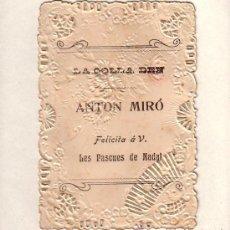 Postales: FELICITACIÓN NAVIDAD OFICIOS. AGUINALDO. LA COLLA DEN ANTON MIRÓ. 11,5X8CM APROX. (VER FOTOS). Lote 29325670