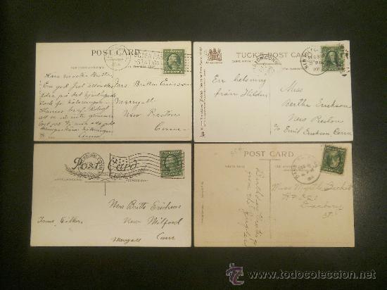 Postales: CUATRO POSTALES PRECIOSAS CIRCULADAS DE PRINCIPIOS SIGLO (1907-1911-1914-1915) - Foto 2 - 29813066