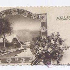 Postales: TARJETA NAVIDAD ANTIGUA *PAISAJE NEVADO* - 1933. Lote 30528751