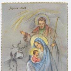 Postales: FELICITACION NAVIDAD CON PURPURINA - 1967 (BORDE ONDULADO DORADO). Lote 31934845