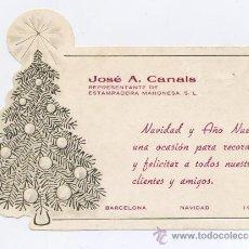 Postales: FELICITACION NAVIDAD TROQUELADA *ARBOL NAVIDEÑO* 1986. Lote 32060600