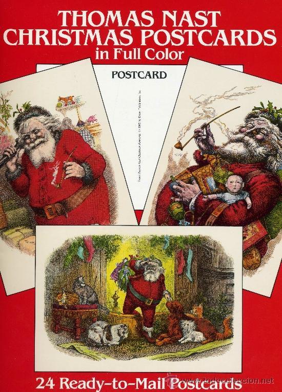 ANTIGUOS CHRISTMAS POSTCARDS. THOMAS NAST (ANTIGUAS POSTALES NAVIDEÑAS) (Postales - Postales Temáticas - Navidad)