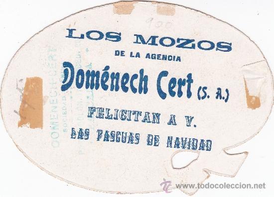 Postales: Los mozos agencia Doménech Cert Barcelona felicitan la Navidad - Foto 2 - 32621197