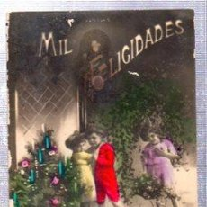 Postales: TARJETA POSTAL MIL FELICIDADES, 1209, MADE IN ITALY. Lote 32791583