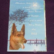 Postales: LABORATORIOS UNITEX, S.A. LE DESEAN FELICES PASCUAS DE NAVIDAD... AÑO 1955. PRECIOSA TARJETA.. Lote 32809656