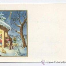 Postales: TARJETA FELICITACION NAVIDAD - EL PORTAL DE BELEN - DIPTICA, 10X7 CM.. Lote 33526611