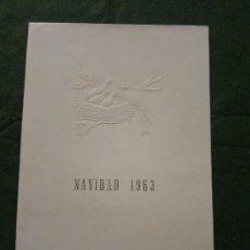Postales: POSTAL DE NAVIDAD , PUBLICIDAD LABORATORIOS COMERCIAL NESTLE,S.A. 1963. Lote 34152568