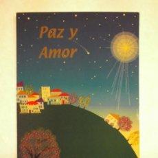 Cartoline: BONITA POSTAL DE NAVIDAD. DIPTICO.INTERVIDA. ESCRITA. Lote 34293587