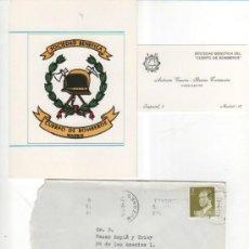 Postales: FELICITACIÓN NAVIDEÑA SOCIEDAD BENÉFICA CUERPO DE BOMBEROS. MADRID. 1984 INCLUYE TARJETA PRESIDENTE. Lote 34908188