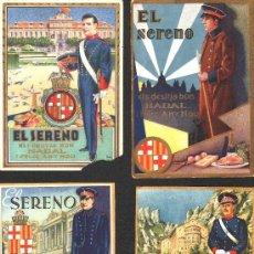 Postales: SEIS FELICITACIONES DISTINTAS DE NAVIDAD DEL SERENO DE LOS AÑOS 30-40.. Lote 35567138
