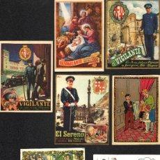 Postales: SIETE FELICITACIONES DISTINTAS DE NAVIDAD DE DISTINTOS OFICIOS DE LOS AÑOS 30-40.. Lote 35567234