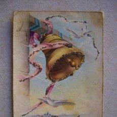 Postales: POSTAL DE FELICIDADES ( AÑOS 30 ) - 13.8 X 9 CTM -. Lote 35952445