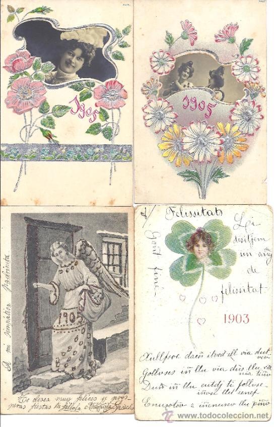 PS3753 LOTE DE 6 FELICITACIONES DE NAVIDAD DE LOS AÑOS 1903, 1905 Y 1906 (Postales - Postales Temáticas - Navidad)