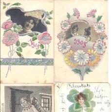 Postales: PS3753 LOTE DE 6 FELICITACIONES DE NAVIDAD DE LOS AÑOS 1903, 1905 Y 1906. Lote 58208915