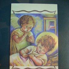 Postales: 4028 NAVIDAD POSTAL NAVIDEÑA JESUS DUERME PINTADO CON LA BOCA POSTCARD AÑOS 80 - TENGO MAS POSTALES. Lote 36426710