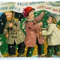 Postales: TARJETA DE FELICITACION NAVIDAD ANTIGUA VINTAGE ESCRITA Y FECHADA EN 1967.. Lote 36494775