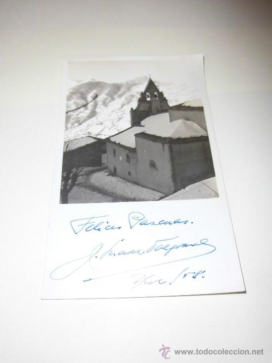 POSTAL PAISAJE NEVADO FECHADA 1958 (Postales - Postales Temáticas - Navidad)