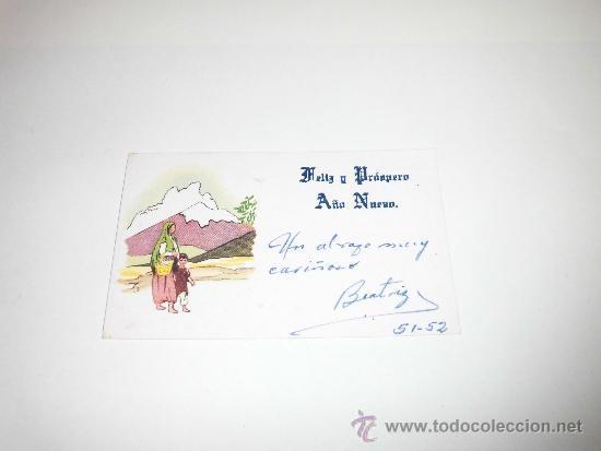 TARJETA NAVIDEÑA 1952 (Postales - Postales Temáticas - Navidad)