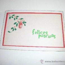 Postales: TARJETA NAVIDEÑA FELICES PASCUAS. Lote 36591806