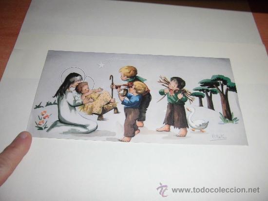 TARJETA NAVIDEÑA DEL HOTEL GREDOS MADRID NIÑOS PASTORES (Postales - Postales Temáticas - Navidad)