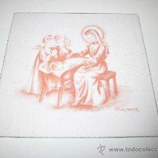 Postales: TARJETA NAVIDEÑA NIÑOS ANGELES ANTE EL NIÑO JESUS. Lote 36594832