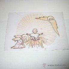 Postales: TARJETA ANGEL ANTE NIÑO. Lote 36598030