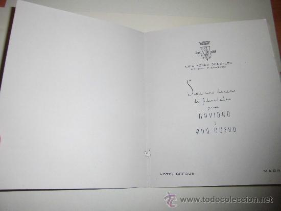 Postales: TARJETA NAVIDEÑA GAMBERRADA PUBLICIDAD HOTEL GREDOS MADRID - Foto 2 - 36598220