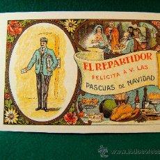 Postales: EL REPARTIDOR FELICITA A V. LAS PASCUAS DE NAVIDAD - POSTAL - AÑO 1988.. Lote 36773573