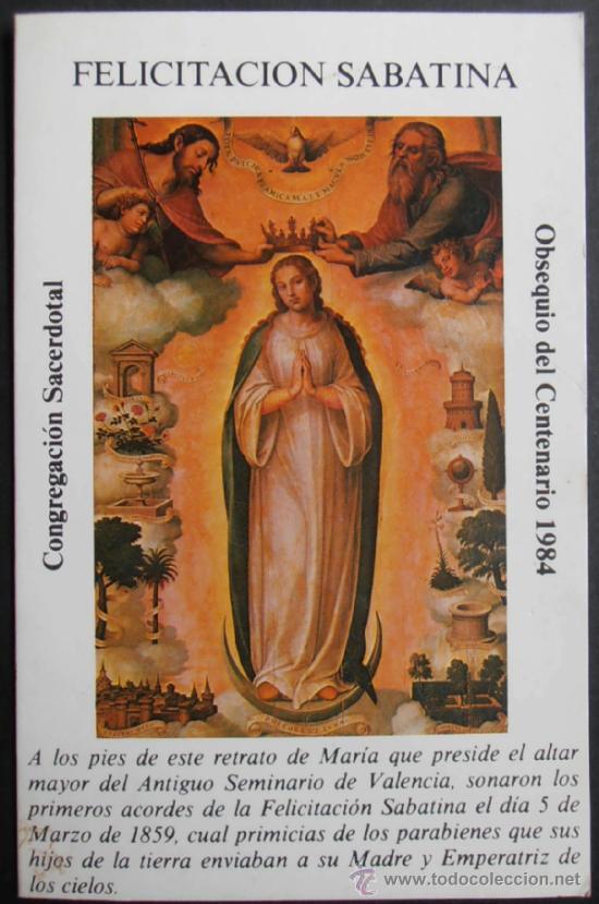Resultado de imagen para Felicitacion sabatina a la Virgen