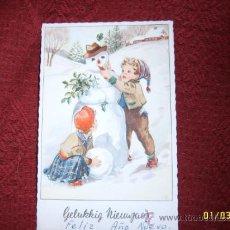 Postales: PRECIOSA POSTAL TROQUELADA NAVIDEÑA HOLANDESA .1962.VER FOTO.. Lote 36975087