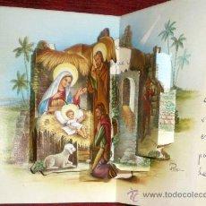Postales: POSAL TROQUELADA DE NAVIDAD AÑOS 70-PESEBRE-NACIMIENTO-PORTAL DE BELÉN-CYZ 2023/42-A. Lote 37097911
