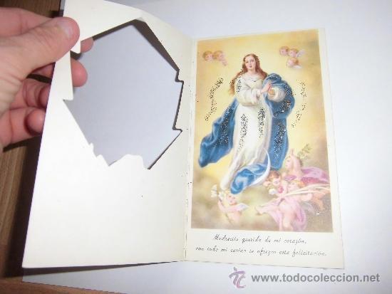 Postales: TARJETA NAVIDAD VIRGEN MARIA INMACULADA - Foto 2 - 37284454