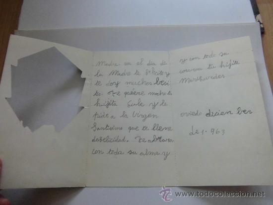 Postales: TARJETA NAVIDAD VIRGEN MARIA INMACULADA - Foto 3 - 37284454