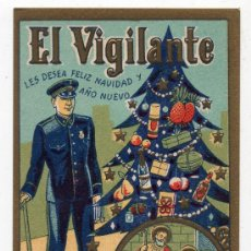 Postales: EL VIGILANTE LES DESEA FELICES NAVIDADES. AÑOS 50.. Lote 37335252