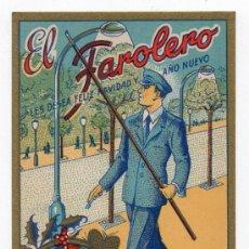 Postales: EL FAROLERO LES DESEA FELICES NAVIDADES. AÑOS 50.. Lote 37335292