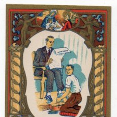 Postales: EL LIMPIABOTAS LES DESEA FELICES NAVIDADES. AÑOS 50.. Lote 37335325