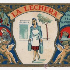 Postales: LA LECHERA LES DESEA FELICES NAVIDADES. AÑOS 50.. Lote 37335352
