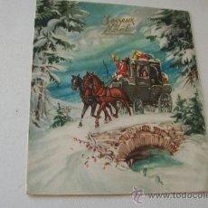 Postales: POSTAL TROQUELADA - CARRUAJE- USADA- 1959- 16 X 13 C. ( CERRADA) -YOYEUX NOËL. Lote 39986410