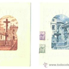 Postales: 2 FELICITACIONES DE NAVIDAD - CORDOBA PLAZA DE LAS DOLORES – PLAZA DEL POTRO. Lote 38996003
