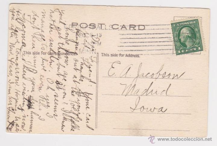 Postales: GRACIOSA POSTAL DE NAVIDAD PRINCIPIOS SIGLO XX 1913, TARJETA FELICITACIÓN FELIZ AÑO NUEVO - Foto 2 - 39689533