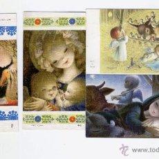 Postales: 4 MINI FELICITACIONES NAVIDAD FERRANDIZ - AÑOS 60 Y.... Lote 39999379