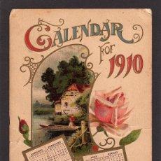 Postales: BONITA TARJETA POSTAL DE NAVIDAD , CALENDARIO AÑO 1910. Lote 40014861