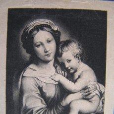 Postales: PRECIOSA Y TIERNA IMAGEN DE LA VIRGEN Y EL NIÑO JESÚS. POSTAL DE LOS AÑOS 30.. Lote 40227230
